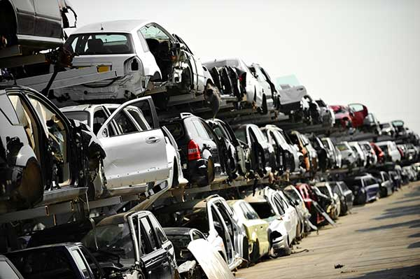 What happens to a car at the scrapyard